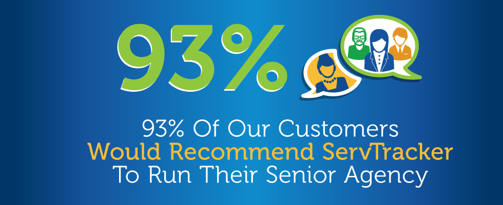 93% Of Our Customers Would Recommend ServTracker To Run Their Senior Agency